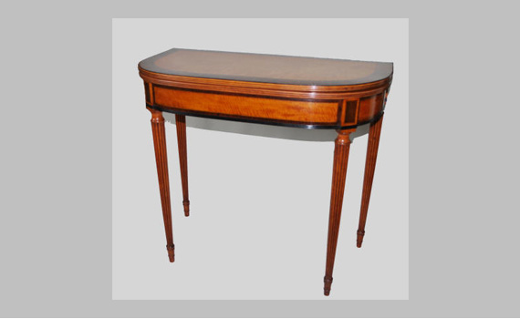 George III Satinwood Card Table