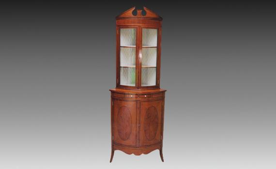 James Shoolbred satinwood Corner Cabinet