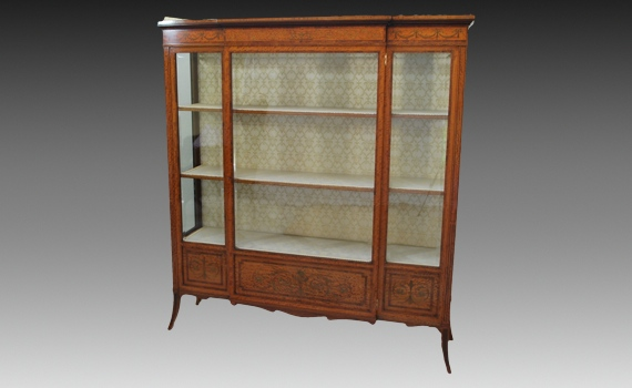 Antique Edwardian Satinwood Edwards & Roberts Cabinet