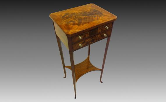 Edwardian Mahogany Two Drawer Table