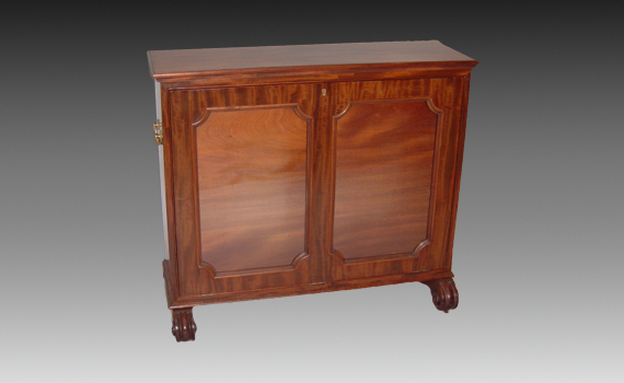 Mahogany Folio Cabinet