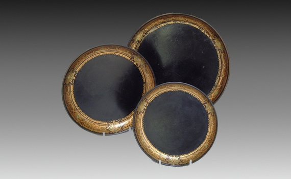 Three Victorian Papier Mache Trays