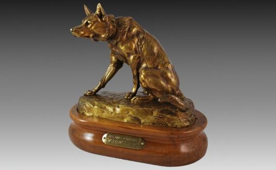 Louis Riche Bronze Dog