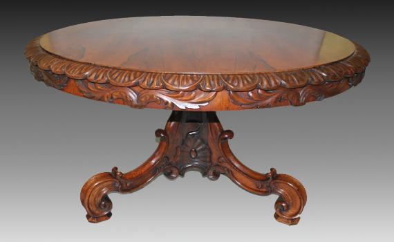 William IV Rosewood Centre Table