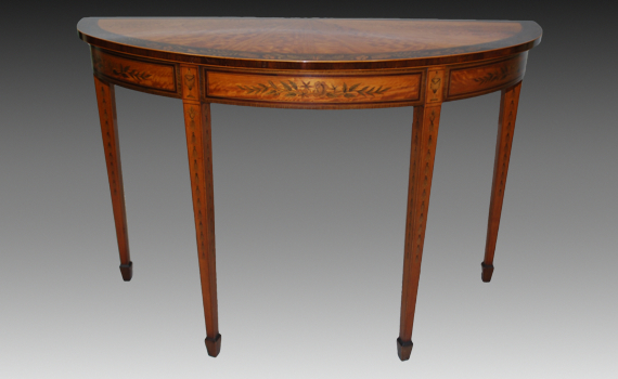 Late Victorian Satinwood Side Table