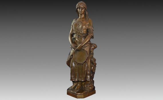 Claudius Marioton Bronze Figure