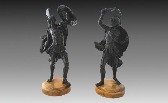 19th Century Bronze Roman Soldiers