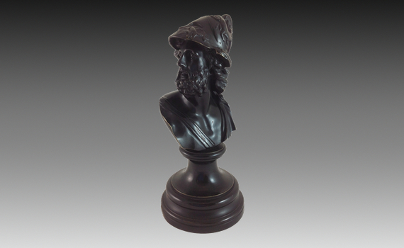 Antique Bronze Bust of Ajax
