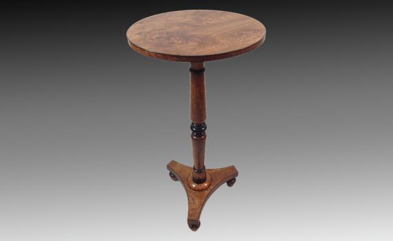 George IV Figured Elm Side Table