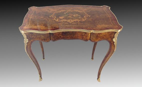 Victorian Inlaid Walnut Table