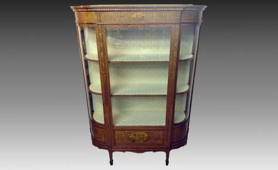 Satinwood Inlaid Display Cabinet
