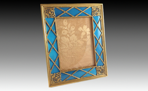 Gilt Metal & Enamel Photograph Frame