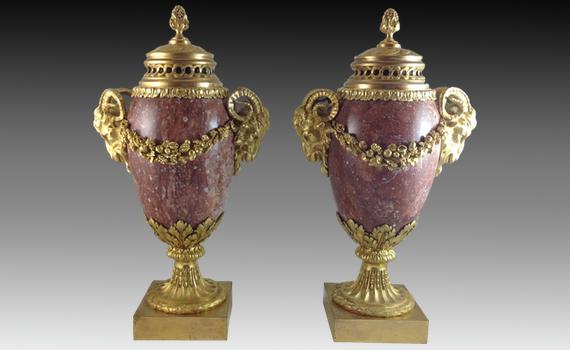 Napoleon III Marble & Gilt Urns