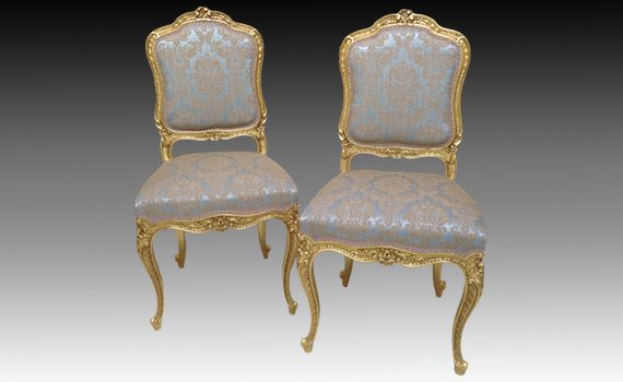 Louis XV Style Giltwood Chairs