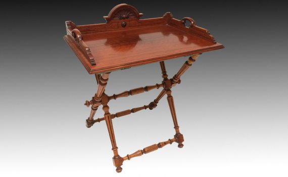 Victorian Walnut Butlers Tray on Stand