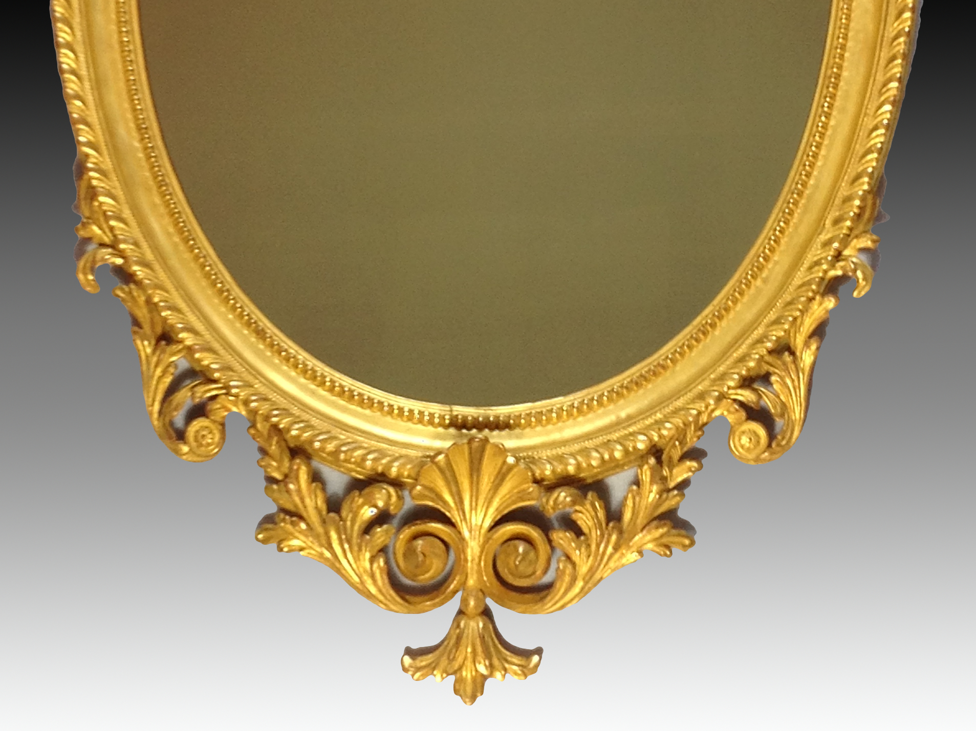 Antique victorian carved giltwood mirror for Victorian mirror
