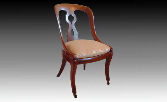Six Mahogany Dining Chairs By Constantine