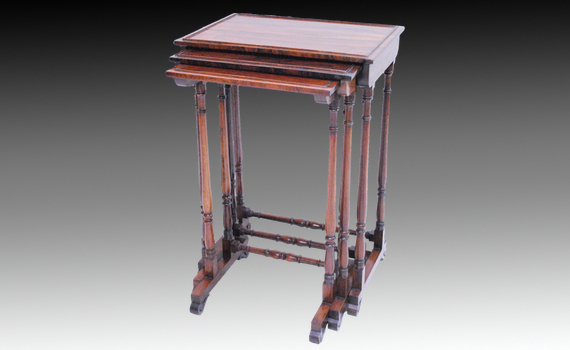 George IV Rosewood Nest of Tables