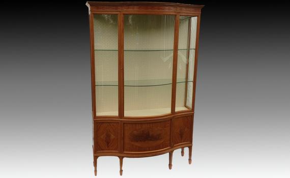 Maples & Co Satinwood Display Cabinet