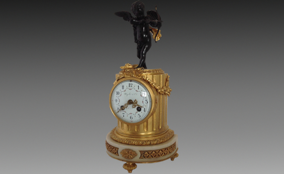 Maple & Co Marble & Gilt Bronze Mantel Clock