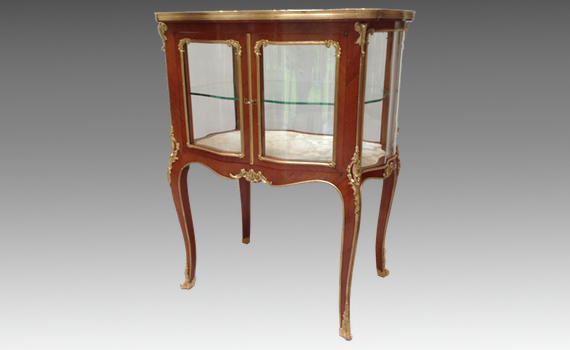 Rosewood and Gilt Bronze Table Vitrine