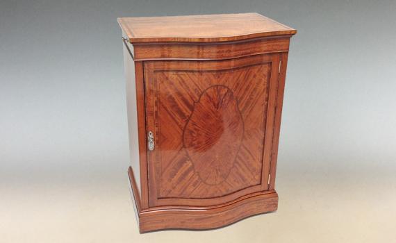 Antique Edwardian Satinwood Folio Library Cabinet