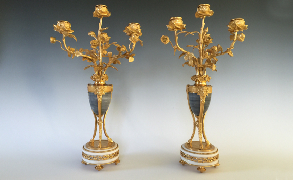 Antique Pair of Louis XVI Style 19th Century French Candelabra