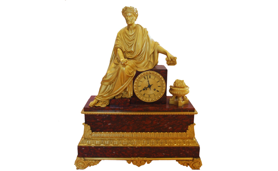 Fine Large Louis Philippe Clock By Deniere, Dated 1833.