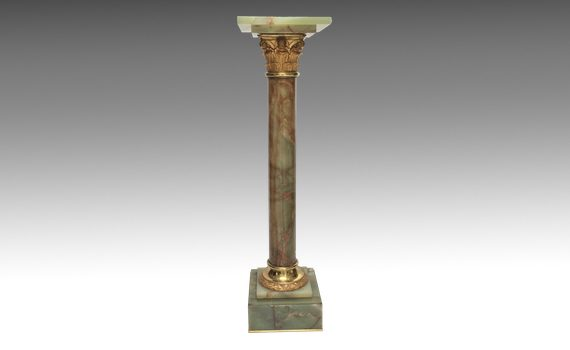 Antique French Onyx & Gilt Metal Column