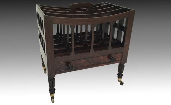 Antique Georgian Rosewood Canterbury Attributed to Gillows