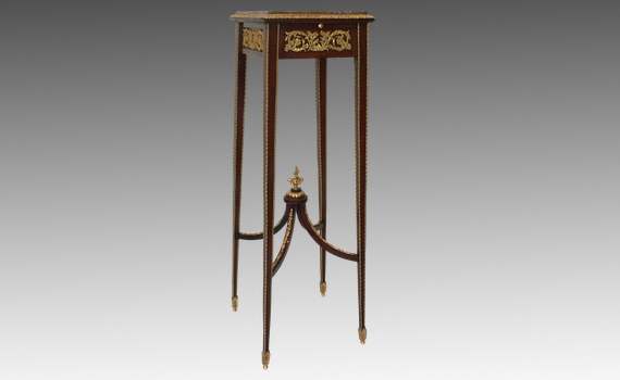 Antique French Belle Epoque Mahogany & Ormolu Mounted Stand