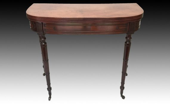 Antique Late George III Mahogany Tea Table