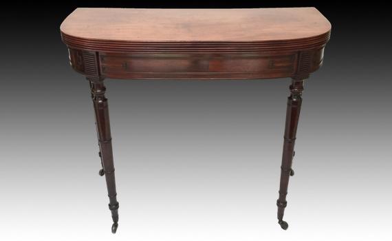 Antique Late George III Mahogany Tea Table