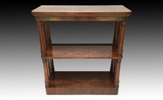 Antique Early Victorian Rosewood Three Tier Buffet Whatnot