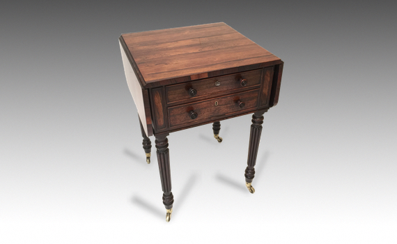 Antique George IV Rosewood Work Table Attributed To Gillows