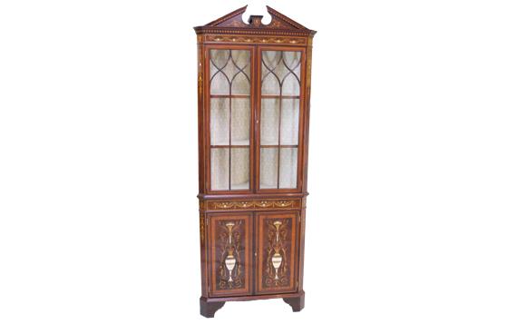 Antique Late Victorian Mahogany Corner Cabinet