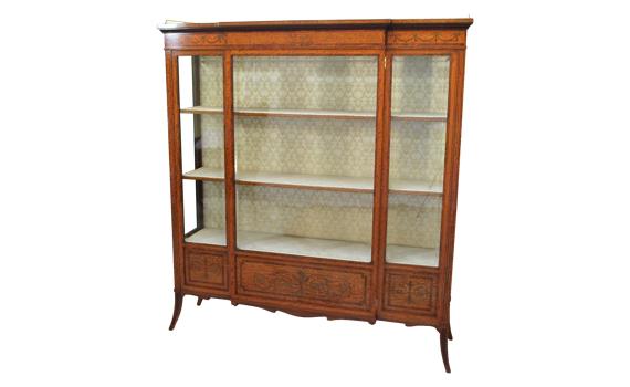 Antique Edwardian Satinwood Edwards & Roberts Cabinet