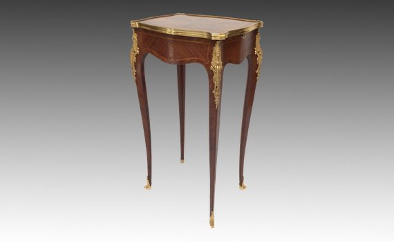 Antique Satiné & Ormolu Mounted Small Table