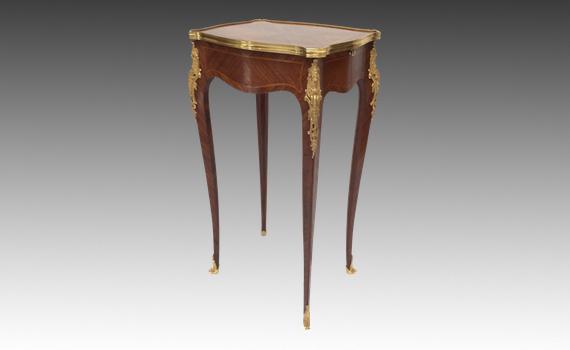 Antique Satiné & Ormolu Mounted Small Table
