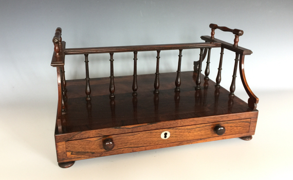 Antique George IV Rosewood Book Tray