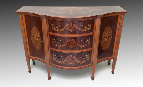 Antique Edwards & Roberts Marquetry Side Cabinet George III Style