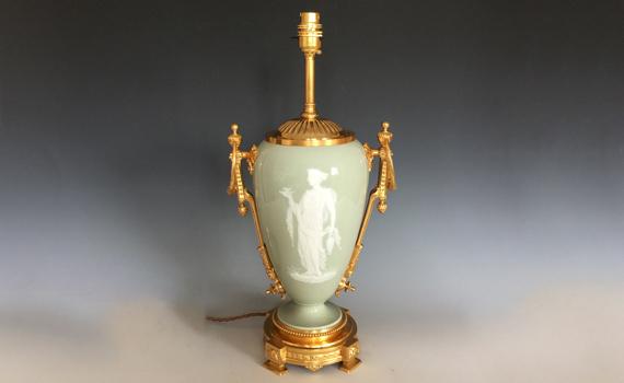 Antique French Pâte-sur-Pâte Lamp Base