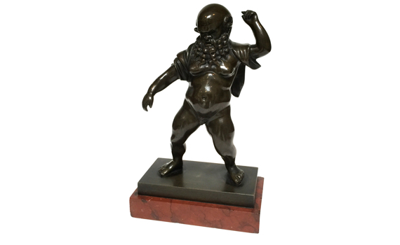 Antique Bronze Figure of Silenus after the antique