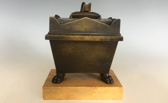Antique French Grand Tour Bronze Napoleon's Tomb Inkwell