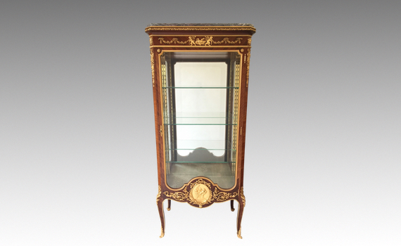 Antique Francois Linke Kingwood & Ormolu Mounted Vitrine Index No 38B