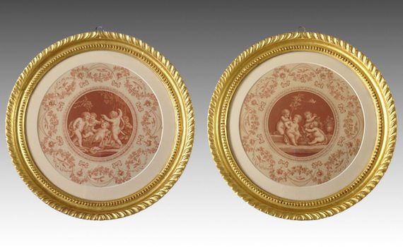 Antique Pair of Bartolozzi Engravings after Cipriani