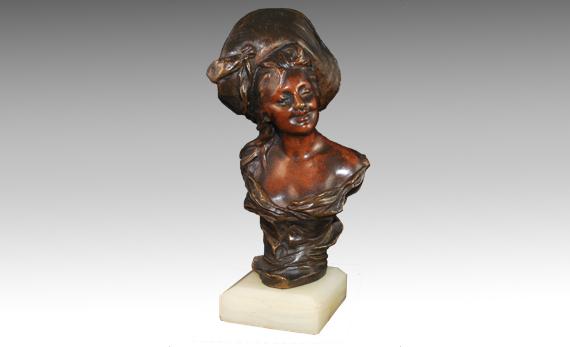 Antique Bronze Bust after Van Der Straeten
