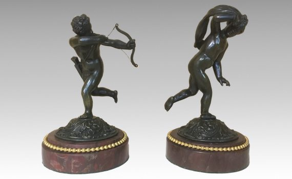 A Pair of antique French Bronze Putti
