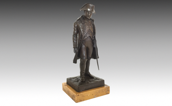 Antique Bronze Figure of Napoleon Bonaparte by Vincent Riviere