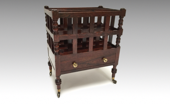 Antique George III Regency Rosewood Canterbury